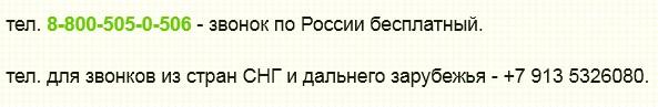 как правильно указывать телефоны на странице Контакты