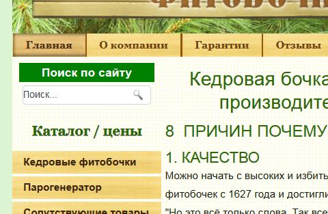 поле поиска при оформлении главной страницы